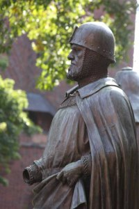 Statue of a knight of the Teutonic Order.photo by Morgan Thomas