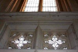 Leaded glass windows in Malbork Castle.photo by Morgan Thomas