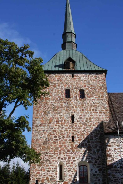 The beautiful old church Sunds Kyrka was once a Catholic church bt now is Lutheran.