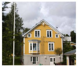 """House in Mariehamn, which is billed as the """"town of 1,000 iindens"""""""