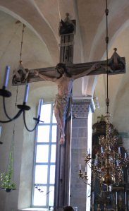 The body of Christ in the Triumphal Crucifix was carved from oak felled from the Schleswig-Holstein area around 1240.