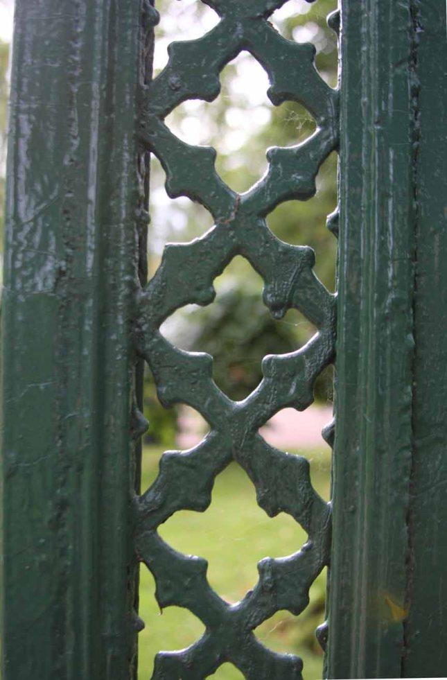 Garden behind the gate in Alexander Park.photo by Morgan Thomas
