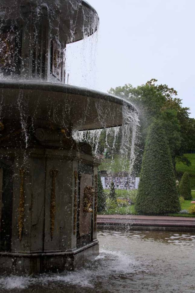 The fountains of Peterhof operate from natural springs and a system that does not require pumps.photo by Morgan Thomas